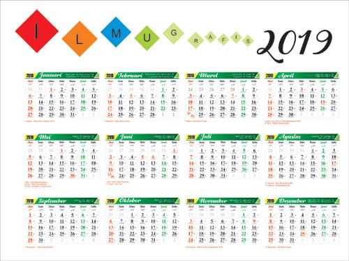 download kalender 2019 lengkap cdr